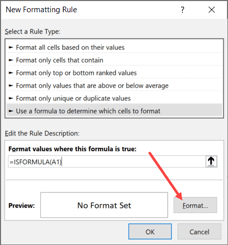 Click on the Fomrnat Button