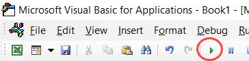 Click the green button to run the macro