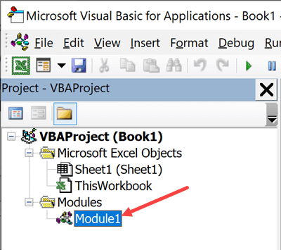 Insert module in VB Editor