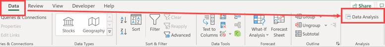 Data Analysis Toolpak