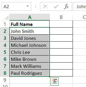 Dataset with Names