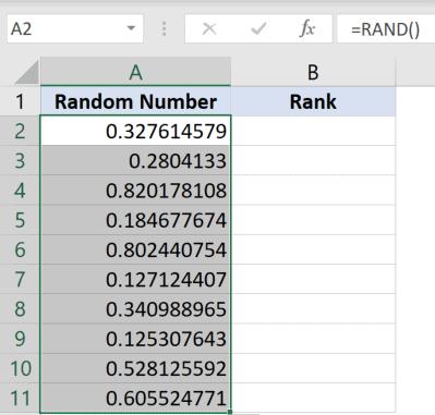 Drag to gte 10 random numbers