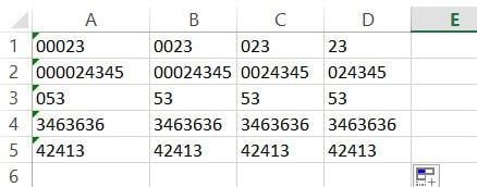 Fill handle to copy formulas