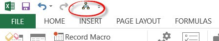 Macro Added in the toolbar