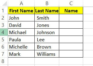 Names Dataset with first and last name