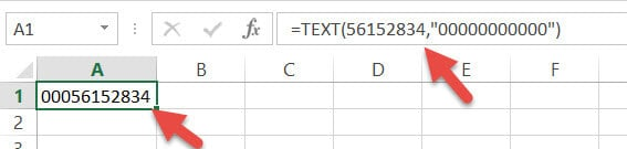 TEXT formula - Removing Leading Zeros if they were Added by A Formula