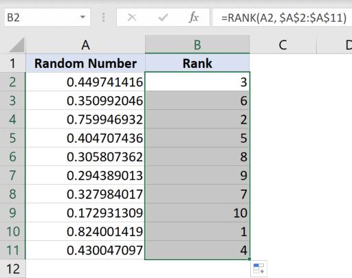 Unique random numbers without duplicates