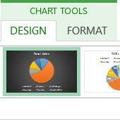 Chart tools contextual tab