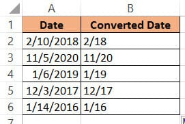 Converting dates using the TEXT formula