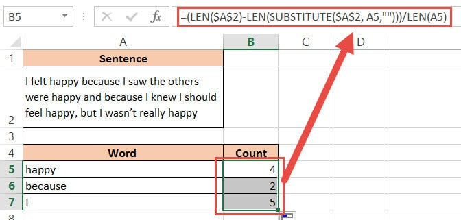 Copy and drag the formula for all cells