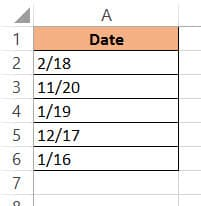 Copy and paste dates as values from TEXT function