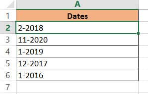 Copy and paste dates as values