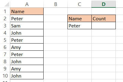 Dataset to count names