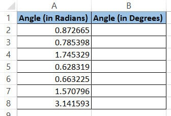 Radians to convert to degrees