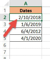 Converted Long date to short date