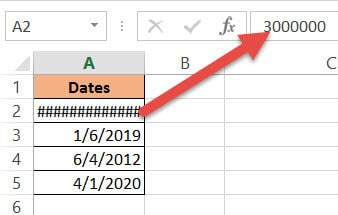 Number beyond the date range in Excel