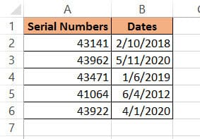 Serial numbers converted to date using VBA