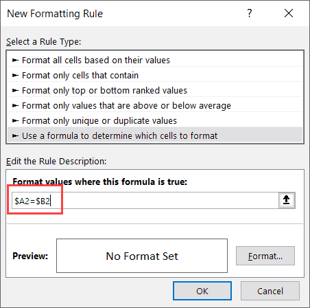 Enter-the-formula-in-Conditional-Formatting-dialog-box