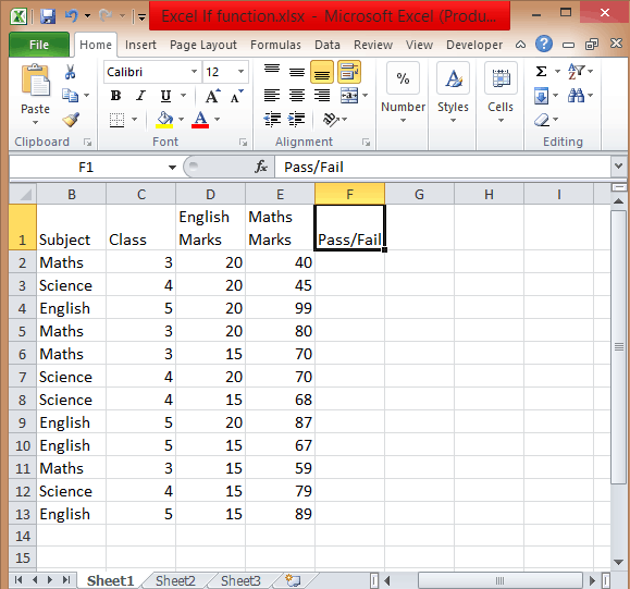 Excel-If-conditions