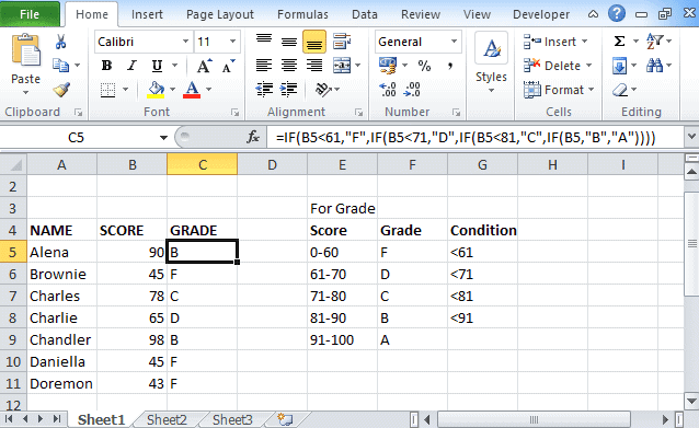 Excel-if-statement-multiple-condition