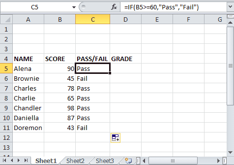 Excel-if-statement