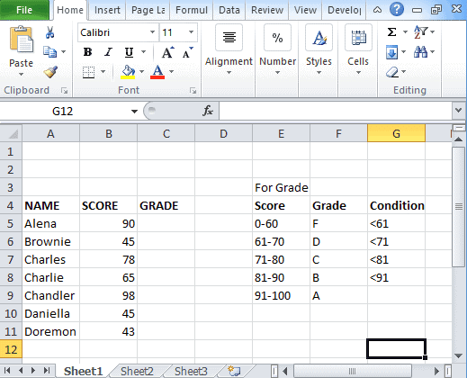 Multiple-If-statement-in-Excel