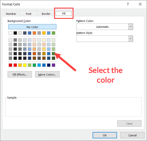 Select-the-color-from-Fill-tab