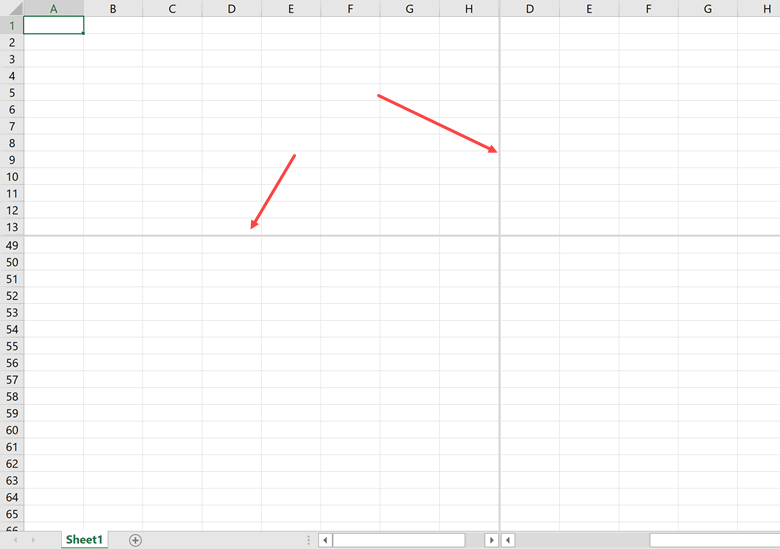 Double click on gray lines to remove panes