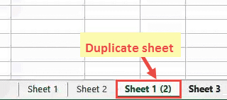 Duplicate sheet in inserted