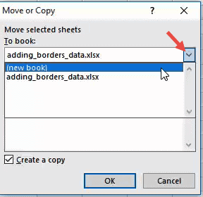 select the 'new book' option