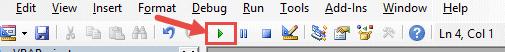 Click on the RUN macro button