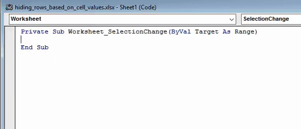 Excel VBA automatically inserts some worksheet event code