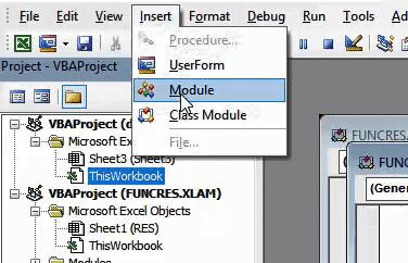 Insert a new module