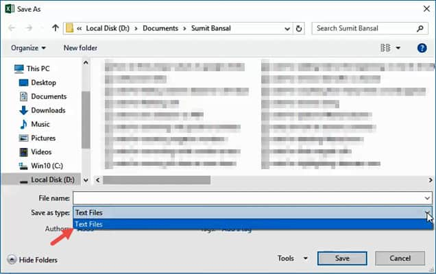 Save as Dialog with the option to choose file type