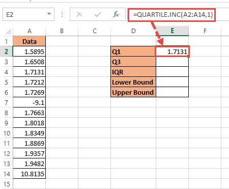 Lower Quartile formula