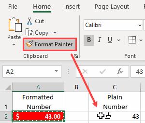 Excel format painter