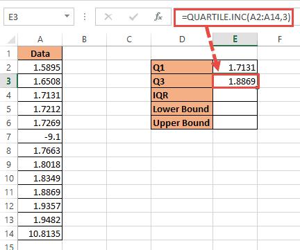 Upper Quartile formuala