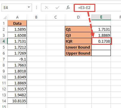 calculating Inter quartile  range