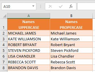 Resulting names in Proper case format