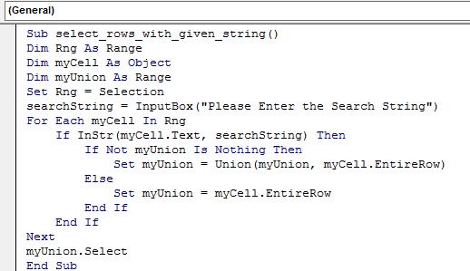 Copy the VBA code in the code window