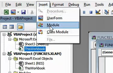 Click on Module to Insert a new one