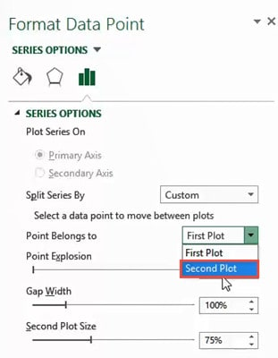 Select Second plot from the drop down