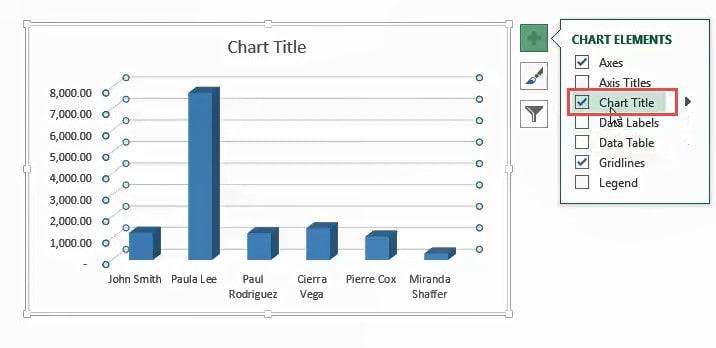 Select Chart title