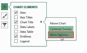 More Chart Title Options
